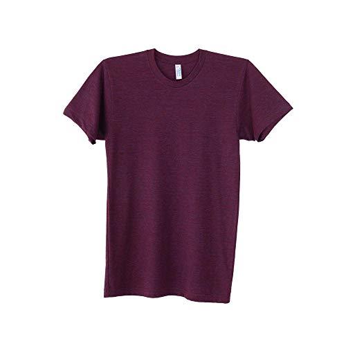 Authentische American Apparel (American Apparel Triblend TR401 Kurzarm-T-Shirt, blanko, AA006 Gr. M, Tri-Cranberry)