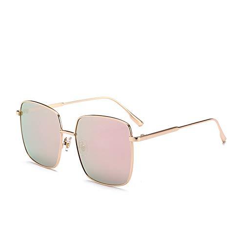QDE Sonnenbrillen Vintage Sonnenbrillen Damen Oversize Square Sonnenbrille Damen Brille Uv400, Pink