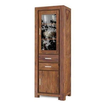 Aprodz Sheesham Wood High Wooden Cabinet, Cupboard, Sideboard, Showcase or Library Bookcase