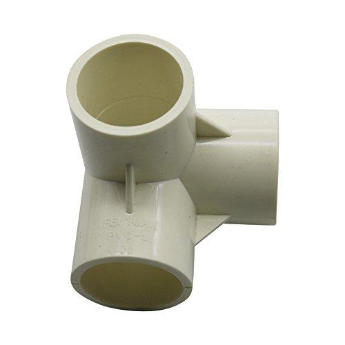 Válvula tridimensional, 5piezas, PVC, 4 vías, 5 vías