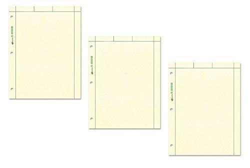 National Marke Computation Pad, Uni und 5x 5Quad auf Rückseite, grün Papier, 21,6x 27,9cm, 200Blatt (42389) grün