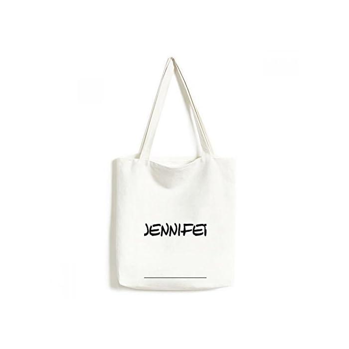 DIYthinker Spezielle Handschrift Englischer Name Jennifer Environmentally Waschbar Einkaufs-Tasche Fertigkeit-Geschenk 33 * 40cm Mehrfarbig 1