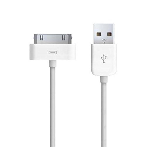 TheMax High Speed USB 2.0 Daten-Ladekabel für iPhone 3 G/3 GS/4/4S, iPad 1./2./3. Gen, iPod 3./4./Classic/iPod Mini/iPod Nano 1./2./3./4./5. Gen, iPod Touch 1./2./3. 2 Meter weiß Gen 2 Ipod