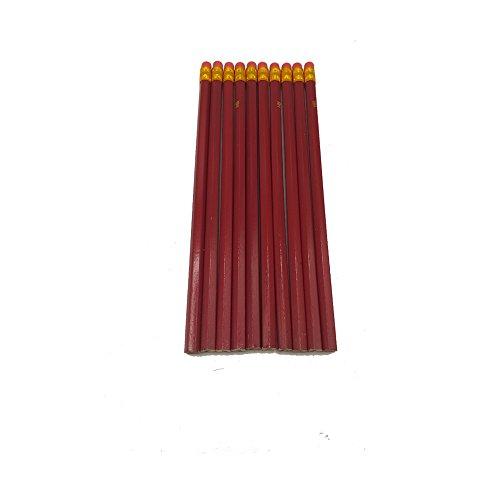 Set von 10 Bleistifte mit Radiergummi - HB Qualität 2mm