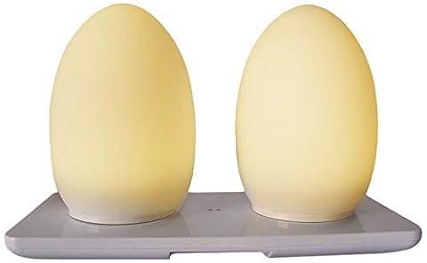 Lumisky BAT-EGG Luxe Œuf Set de 2 Lampes de Table