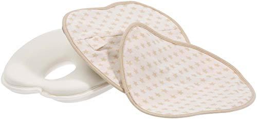 Babykissen gegen Plattkopf aus BIO-BAUMWOLLE von Minky Mooh - Inkl. 2 Bezügen | Ergonomisches Memory Foam für natürliche Kopfform und Vermeidung von Kopfverformung von Deinem Neugeborenen Baby