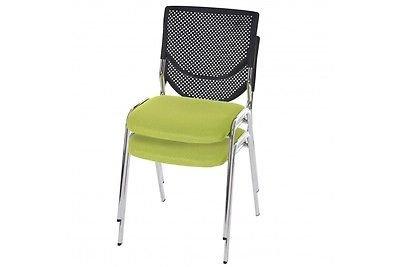 2 Konferenzstühle grün 2er Set Besucherstuhl stapelbar Stuhl Stapelstuhl Büro