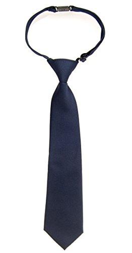 Retreez  Corbata para niño preatada color liso mate microfibra varios colores azul azul marino 24 Meses  4 Años