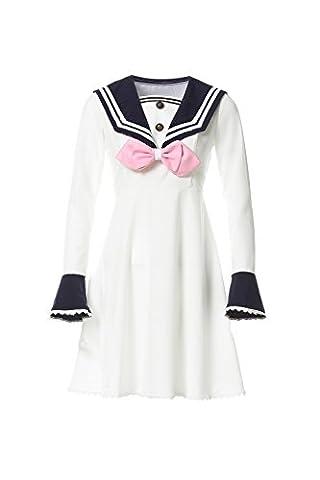 Nuoqi Damen Lolita Seemann Kleider Chiffon Langarm Cosplay Kostüm (EU38, GC310A-NI)