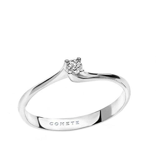 anello donna gioielli Comete Solitario classico cod. ANB 1682