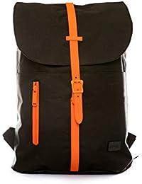 Spiral Tribeca - Black-ORANGE Rucksack 41 Centimeters 14 Schwarz (Black)
