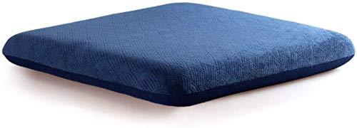 ARIUQK Bürositzkissen Memory Foam Stuhlkissen, rutschfeste Sitzkissen, Samt-Platz Büro Waschbar Universal-Zusatzkissen Stuhl Pad erhöhen (Color : A, Size : 50x50x7cm(20x20x3))