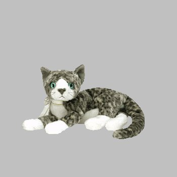 cc96a580b99 Ty Beanies Babies - Purr the Grey and White Cat  Toy  by Ty