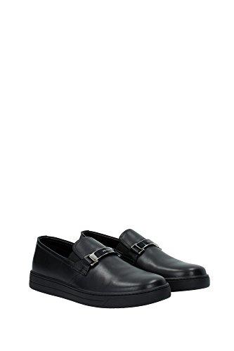 4D2906NERO Prada Pantoufle Homme Cuir Noir Noir