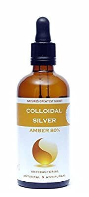 Natures Greatest Secret Amber 80% Colloidal Silver (Dropper) 100ml from Natures Greatest Secret