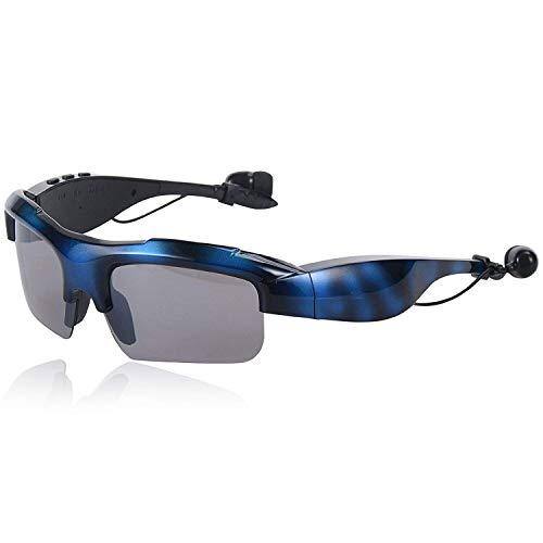 WNZL Intelligente drahtlose Bluetooth-Sonnenbrillen 4.1 Musik und Hands-Free Calling Polarisierte Objektive Video-Recording wasserdichte Sportmotorzyklusgläser,Blue