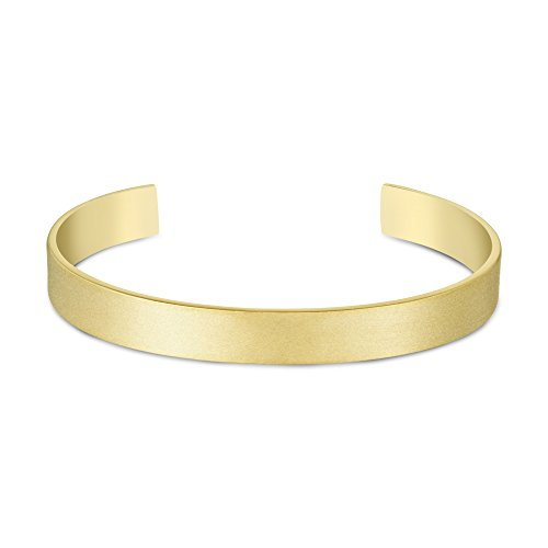 Arque Large Brushed 18 ct Yellow Gold Small/Medium Cuff of 14.6 cm