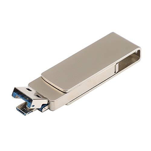 MuSheng USB Sticks, USB 3.0 4/8/16/32/64/128GB USB Flash Laufwerk Disk Digital OTG & USB Dual Use USB Sticks 80 MB/S (4GB, Gold) 4 Gb Usb-uhr