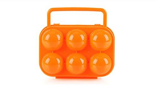 BrilliantDay Eier Aufbewahrungsbox Eierbehälter Vorratsdose Fach Multi in Kühlschrank Outdoor Picknick Camping Farbe Zufällig LianLe (Orange, 6 Fach)