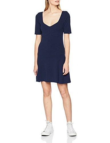 Tommy Jeans Damen Fitflar  Kurzarm  Kleid Pink (Black Iris 002) Medium