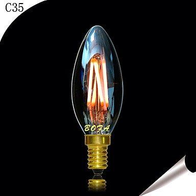 FDH E14 2200K-3000K 200-300 Lm 220V 3W 4LED LED regulable imitación Retro Filamento luz de vela