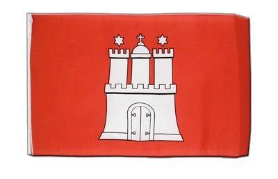 Deutschland Hamburg Flagge, Fahne 30 x 45 cm, MaxFlags®
