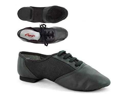Capezio 458 Split Sole Jazz Shoe With Suede Sole - Black - 6 UK