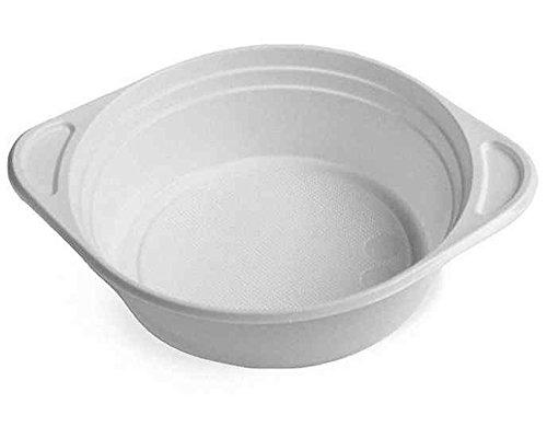 100 Stk. Suppenterrine Suppenteller weiß aus PS, 500 ml, mit Anfasser