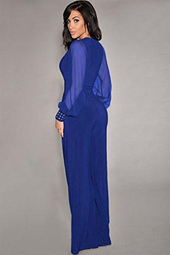 Pinkyee Damen Kleid Blau