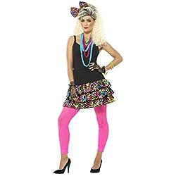 Smiffys Damen 80er Jahre Party Girl Set, Rock, Kopfband und Kette, Größe: 40-46
