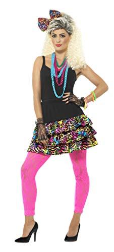 Smiffys Damen 80er Jahre Party Girl Set, Rock, Kopfband und Kette, Größe: 36-42