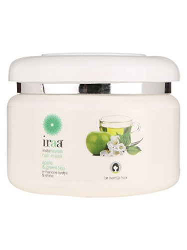 Iraa Instanourish Hair Mask ~ A Deep Conditioner made from Natural extracts of Apple, Green Tea & Olive oil for Smooth Shiny Hair.