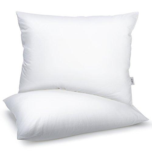 Homfy cuscini 50x75, guanciali, cuscini letto 2 pezzi, 100% cotone, media durezza, anallergico e antiacaro, traspirante,bianco