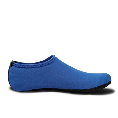 DADASIY 3rd Upgraded Version Durable Sole Barefoot Water Skin Shoes Aqua Socks For Beach Pool Sand Swim Surf Yoga Water Aerobics Blue l3b0tT5W