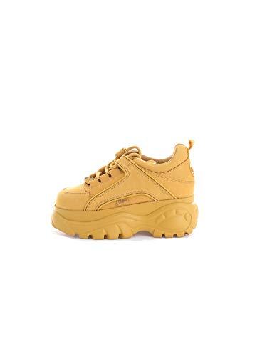 Buffalo London Unisex Sneaker Low Safran 37 - Safran-leder-schuhe