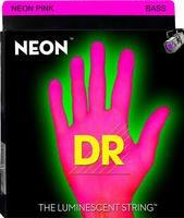 DR NEON HI-DEF NPB5-40 PINK 40-120 Leuchtstoff-Saiten für 5-Saiter-Bass (Leuchtende Bass-saiten)