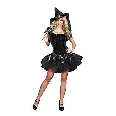 Ziel Hexe Kostüm - FGDJTYYJ Cosplay Kostüme Zauberer/Hexe Fest/Feiertage Halloween Kostüme Andere Kleid Hut Halloween Frau Elasthan Terylen, one Size