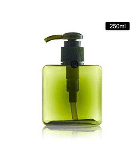 250 ml nachfüllbar leer Kunststoff Flaschen Pumpe Flasche Lotion Spender Flasche Sturzgläser für Make-up Kosmetik Bad Dusche Shampoo hair-conditioner Flüssigseife Toilettenartikel Liquid Container (Shampoo Conditioner Spender Und)