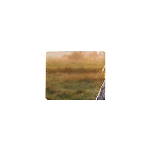 Laufen Spaziergang Pferd Tier Wilde Kühle Leder Visitenkarte Münze Id Beutel Inhaber Reise Clutch Geldbörse Geldscheinklammer Brieftasche Fall Für Mädchen Männer Und Frauen Vordere Tasche Scheckheft -