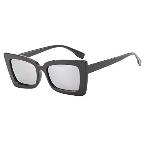(SANFASHION Mode Damen Oversized Übergroße Sonnenbrille Vintage Retro Mode Katzenauge Brille Super Coole Damenbrillen Frauen Women Cat Eye Sunglasses Travel Eyewear)