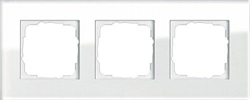 Preisvergleich Produktbild Gira 021312 Rahmen 3-fach Esprit Glas, weiß