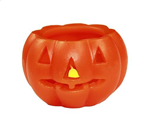 HAAC Led Kürbis Kerze Halloween Größe 10 cm x 7 cm Farbe orange