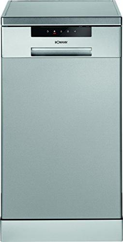 Bomann GSP 849 Geschirrspüler / A++ / 211 kWh / Jahr / 10 MGD / L / Top Control mit LED-Display / silber