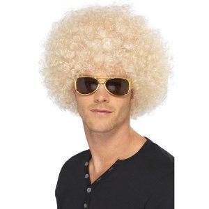 Kostüm Mit Afro 70 S - Smiffys Unisex Funky Afro Perücke (Blonde) [Misc.]