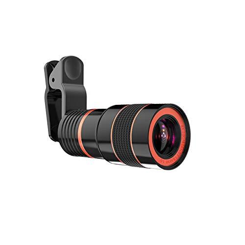 GAOYH Handy-Kameraobjektiv-Kit 2 In 1 Universal 8fach-Zoom-Teleobjektiv + 150x-Weitwinkel50 X-Makro + 180 ° Fisheye Geeignet Für Android-Smartphones