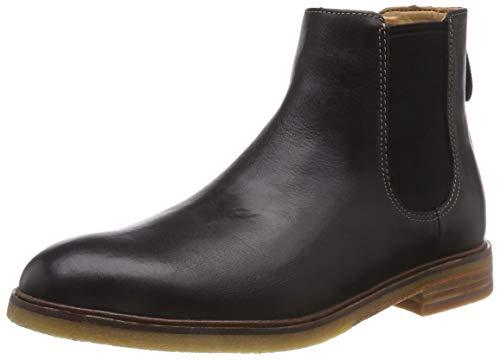 Clarks Herren Clarkdale Gobi Chelsea Boots, Schwarz (Black Leather), 43 EU (Clark Schuhe Von)