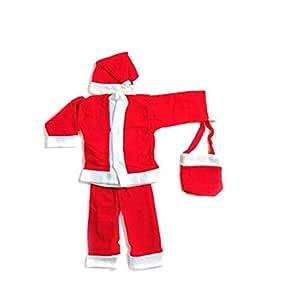 Brown Leaf® Christmas Santa Dress for Children (2 no. Size (2-3 Year))