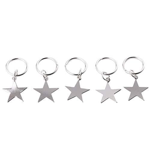 Zöpfe Haarringe Haarnadeln Set Haarschmuck Metall Sterne Minimalistisch Manschetten Haar Zubehör für Frauen und Mädchen
