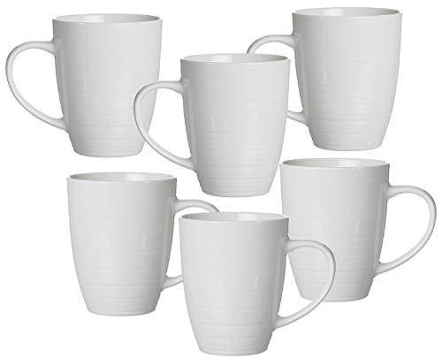 Ritzenhoff & Breker Kaffeebecher-Set Suomi, 6-teilig, je 310 ml, Cremeweiß, Porzellan