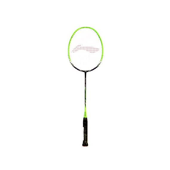Li-Ning Turbo X 80 Carbon-Graphite Strung Badminton Racquet, S2 (Green/Black)